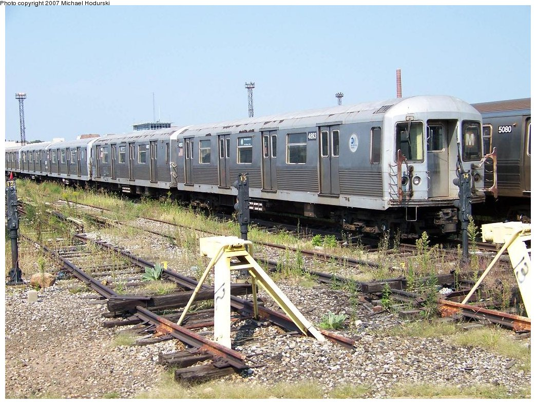 (270k, 1044x788)<br><b>Country:</b> United States<br><b>City:</b> New York<br><b>System:</b> New York City Transit<br><b>Location:</b> Coney Island Yard<br><b>Car:</b> R-42 (St. Louis, 1969-1970)  4893 <br><b>Photo by:</b> Michael Hodurski<br><b>Date:</b> 9/8/2007<br><b>Viewed (this week/total):</b> 0 / 1184