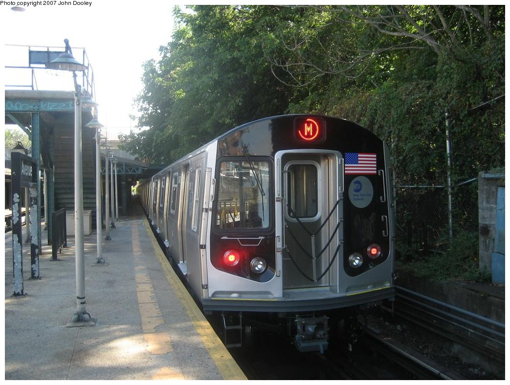 (190k, 1043x787)<br><b>Country:</b> United States<br><b>City:</b> New York<br><b>System:</b> New York City Transit<br><b>Line:</b> BMT West End Line<br><b>Location:</b> 9th Avenue <br><b>Route:</b> Testing<br><b>Car:</b> R-160A-1 (Alstom, 2005-2008, 4 car sets)  8348 <br><b>Photo by:</b> John Dooley<br><b>Date:</b> 9/20/2007<br><b>Viewed (this week/total):</b> 0 / 3188