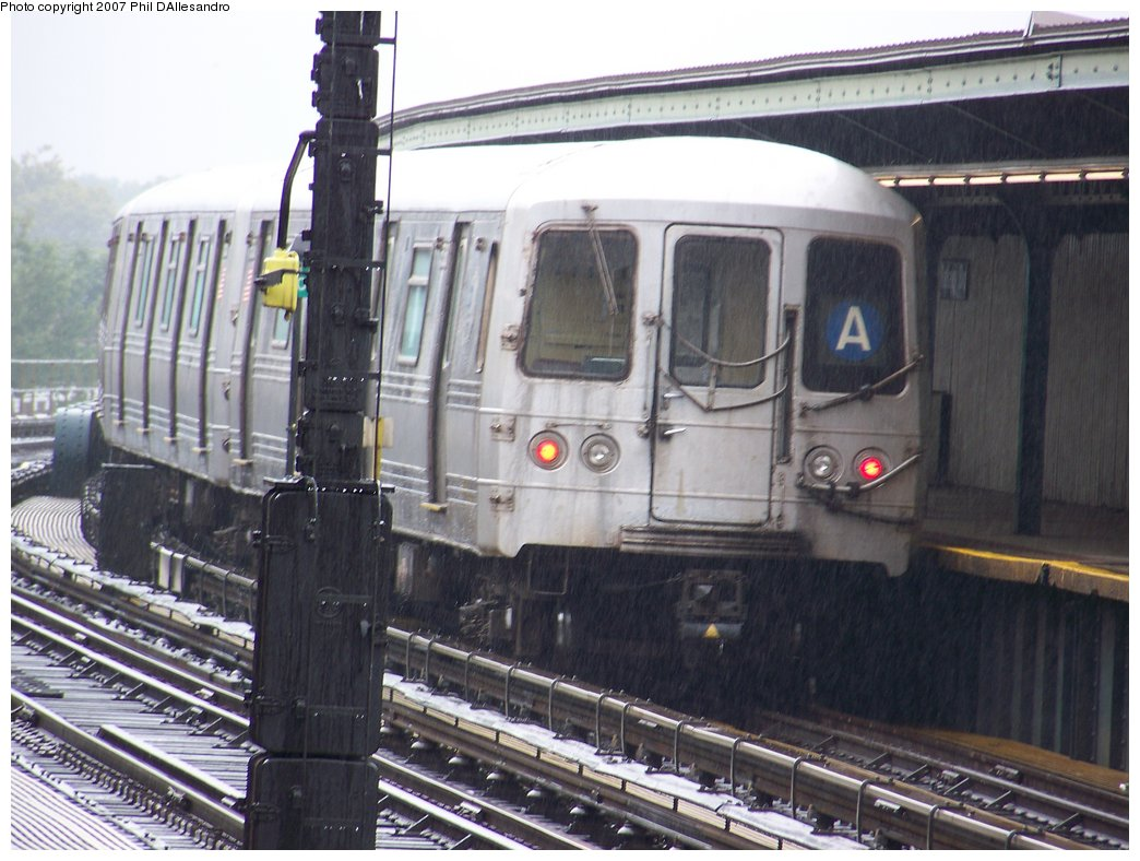 (179k, 1044x788)<br><b>Country:</b> United States<br><b>City:</b> New York<br><b>System:</b> New York City Transit<br><b>Line:</b> IND Fulton Street Line<br><b>Location:</b> Rockaway Boulevard <br><b>Route:</b> A<br><b>Car:</b> R-44 (St. Louis, 1971-73) 5330 <br><b>Photo by:</b> Philip D'Allesandro<br><b>Date:</b> 9/22/2007<br><b>Viewed (this week/total):</b> 2 / 1260