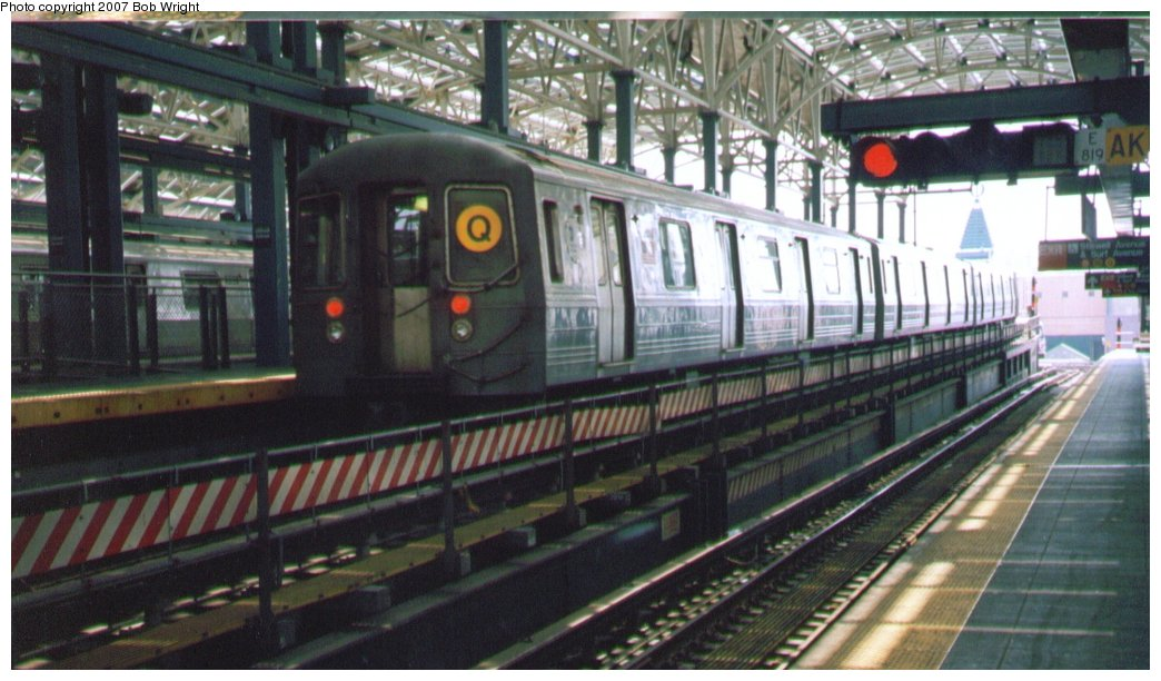 (136k, 1044x612)<br><b>Country:</b> United States<br><b>City:</b> New York<br><b>System:</b> New York City Transit<br><b>Location:</b> Coney Island/Stillwell Avenue<br><b>Route:</b> Q<br><b>Car:</b> R-68/R-68A Series (Number Unknown)  <br><b>Photo by:</b> Bob Wright<br><b>Date:</b> 8/20/2006<br><b>Viewed (this week/total):</b> 4 / 1871