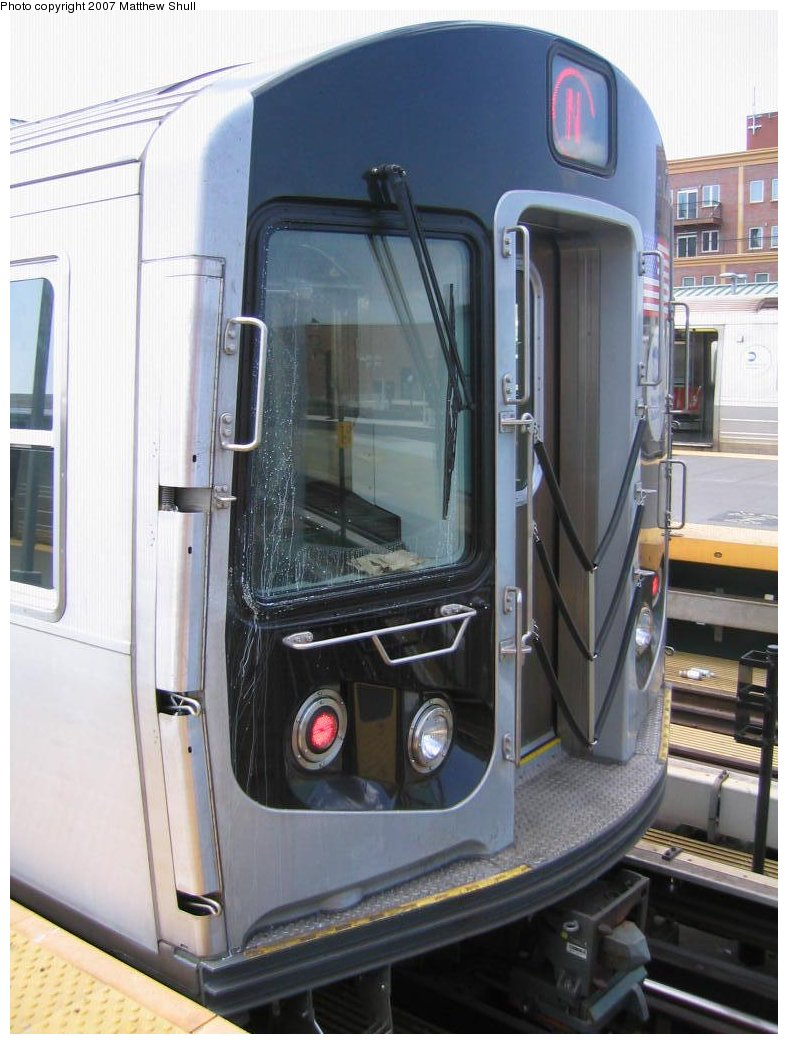 (154k, 788x1044)<br><b>Country:</b> United States<br><b>City:</b> New York<br><b>System:</b> New York City Transit<br><b>Location:</b> Coney Island/Stillwell Avenue<br><b>Route:</b> N<br><b>Car:</b> R-160B (Kawasaki, 2005-2008)  8778 <br><b>Photo by:</b> Matthew Shull<br><b>Date:</b> 8/27/2007<br><b>Notes:</b> Car End<br><b>Viewed (this week/total):</b> 9 / 2339