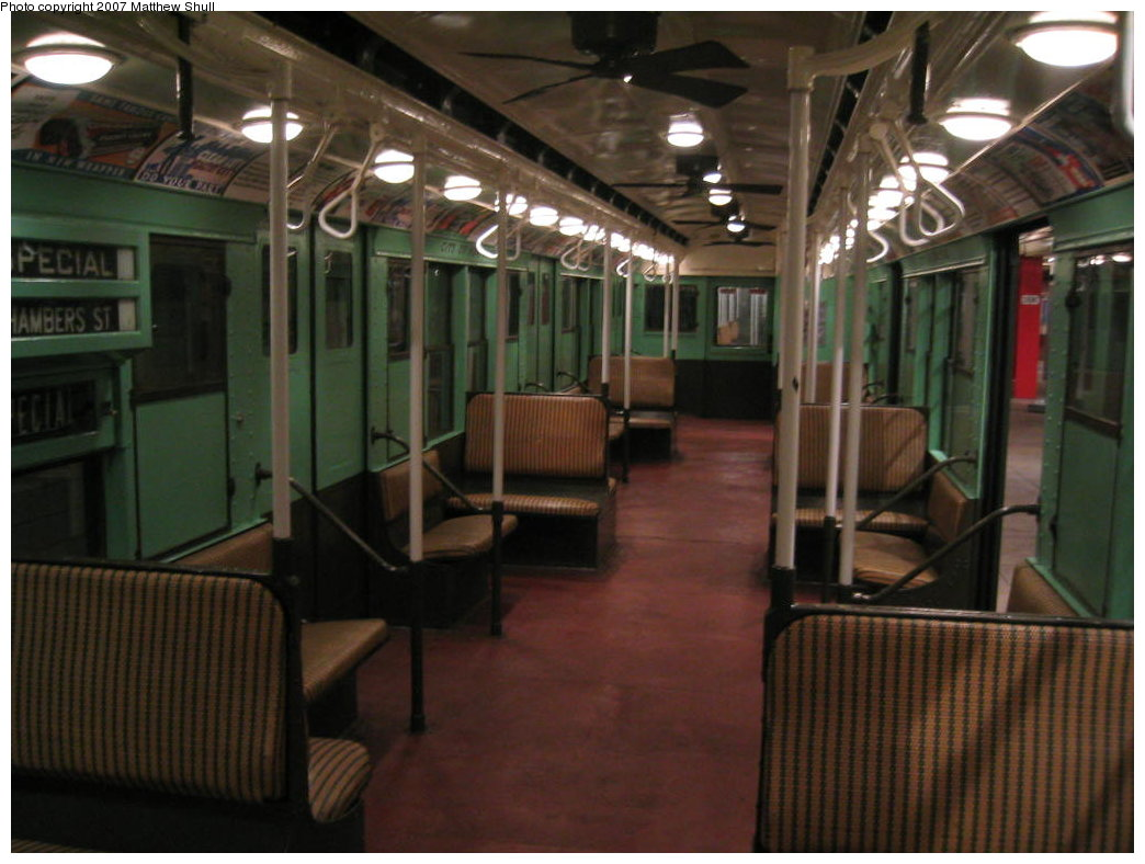 (153k, 1044x788)<br><b>Country:</b> United States<br><b>City:</b> New York<br><b>System:</b> New York City Transit<br><b>Location:</b> New York Transit Museum<br><b>Car:</b> R-4 (American Car & Foundry, 1932-1933) 484 <br><b>Photo by:</b> Matthew Shull<br><b>Date:</b> 8/31/2007<br><b>Notes:</b> Interior<br><b>Viewed (this week/total):</b> 1 / 1775
