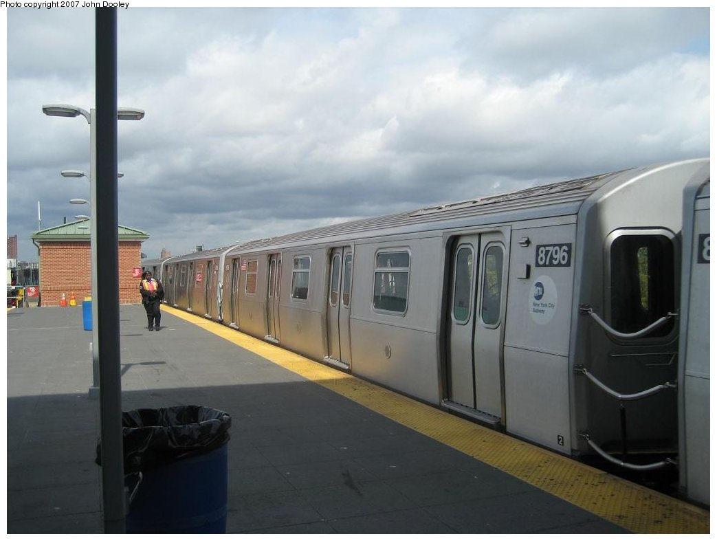 (110k, 1043x787)<br><b>Country:</b> United States<br><b>City:</b> New York<br><b>System:</b> New York City Transit<br><b>Location:</b> Coney Island/Stillwell Avenue<br><b>Route:</b> N<br><b>Car:</b> R-160B (Kawasaki, 2005-2008)  8796 <br><b>Photo by:</b> John Dooley<br><b>Date:</b> 10/1/2007<br><b>Viewed (this week/total):</b> 1 / 1594