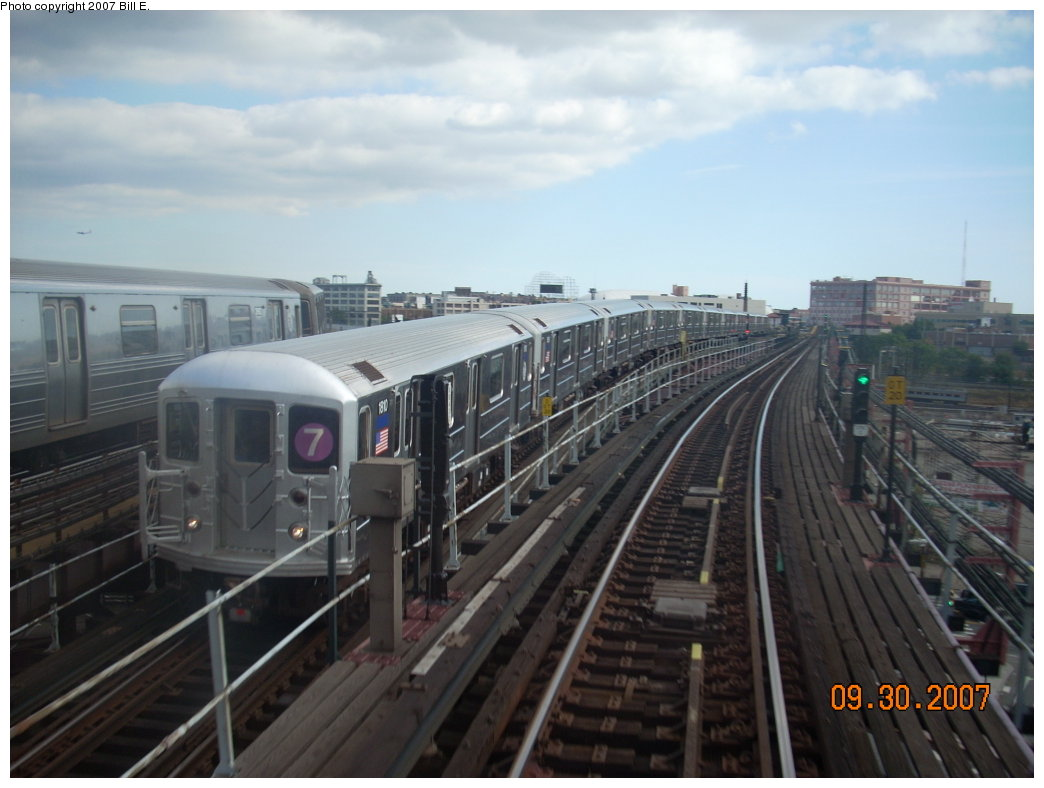 (165k, 1044x788)<br><b>Country:</b> United States<br><b>City:</b> New York<br><b>System:</b> New York City Transit<br><b>Line:</b> IRT Flushing Line<br><b>Location:</b> Queensborough Plaza <br><b>Route:</b> 7<br><b>Car:</b> R-62A (Bombardier, 1984-1987)  1810 <br><b>Photo by:</b> Bill E.<br><b>Date:</b> 9/30/2007<br><b>Viewed (this week/total):</b> 3 / 1674