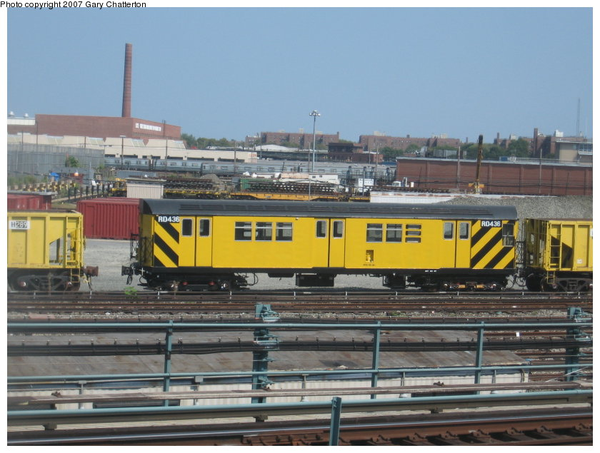 (117k, 840x635)<br><b>Country:</b> United States<br><b>City:</b> New York<br><b>System:</b> New York City Transit<br><b>Location:</b> Coney Island Yard<br><b>Car:</b> R-161 Rider Car (ex-R-33)  RD436 (ex-8914)<br><b>Photo by:</b> Gary Chatterton<br><b>Date:</b> 9/8/2007<br><b>Viewed (this week/total):</b> 2 / 1051