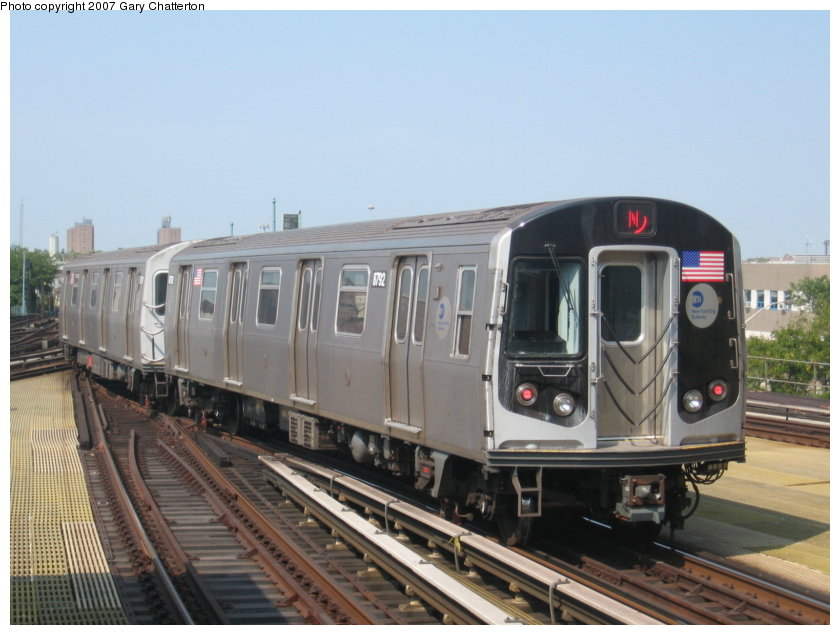 (100k, 840x635)<br><b>Country:</b> United States<br><b>City:</b> New York<br><b>System:</b> New York City Transit<br><b>Location:</b> Coney Island/Stillwell Avenue<br><b>Route:</b> N<br><b>Car:</b> R-160B (Kawasaki, 2005-2008)  8792 <br><b>Photo by:</b> Gary Chatterton<br><b>Date:</b> 9/8/2007<br><b>Viewed (this week/total):</b> 1 / 1519