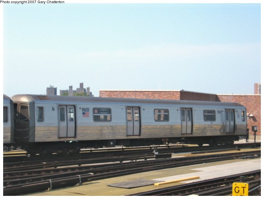 (71k, 840x635)<br><b>Country:</b> United States<br><b>City:</b> New York<br><b>System:</b> New York City Transit<br><b>Location:</b> Coney Island/Stillwell Avenue<br><b>Route:</b> D<br><b>Car:</b> R-68 (Westinghouse-Amrail, 1986-1988)  2700 <br><b>Photo by:</b> Gary Chatterton<br><b>Date:</b> 9/8/2007<br><b>Viewed (this week/total):</b> 4 / 1231