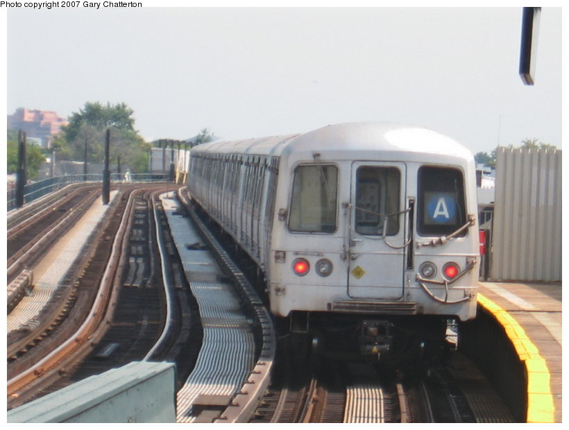 (86k, 820x620)<br><b>Country:</b> United States<br><b>City:</b> New York<br><b>System:</b> New York City Transit<br><b>Line:</b> IND Fulton Street Line<br><b>Location:</b> 104th Street/Oxford Ave. <br><b>Route:</b> A<br><b>Car:</b> R-44 (St. Louis, 1971-73) 5300 <br><b>Photo by:</b> Gary Chatterton<br><b>Date:</b> 9/8/2007<br><b>Viewed (this week/total):</b> 1 / 1566
