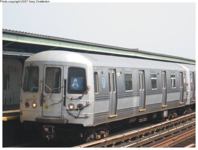 (78k, 820x620)<br><b>Country:</b> United States<br><b>City:</b> New York<br><b>System:</b> New York City Transit<br><b>Line:</b> IND Fulton Street Line<br><b>Location:</b> 104th Street/Oxford Ave. <br><b>Route:</b> A<br><b>Car:</b> R-44 (St. Louis, 1971-73) 5278 <br><b>Photo by:</b> Gary Chatterton<br><b>Date:</b> 9/8/2007<br><b>Viewed (this week/total):</b> 2 / 1214