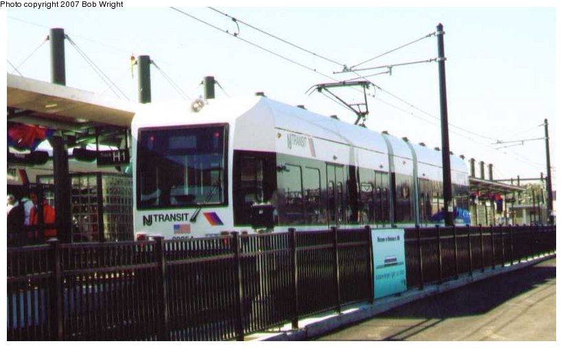 (71k, 820x508)<br><b>Country:</b> United States<br><b>City:</b> Hoboken, NJ<br><b>System:</b> Hudson Bergen Light Rail<br><b>Location:</b> Hoboken <br><b>Car:</b> NJT-HBLR LRV (Kinki-Sharyo, 1998-99)  2025 <br><b>Photo by:</b> Bob Wright<br><b>Date:</b> 9/29/2002<br><b>Viewed (this week/total):</b> 0 / 430