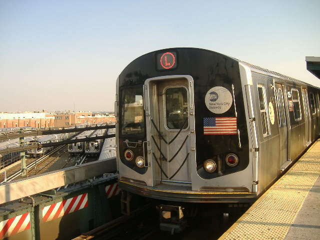 (59k, 640x480)<br><b>Country:</b> United States<br><b>City:</b> New York<br><b>System:</b> New York City Transit<br><b>Line:</b> BMT Canarsie Line<br><b>Location:</b> Broadway Junction <br><b>Route:</b> L<br><b>Car:</b> R-143 (Kawasaki, 2001-2002) 8156 <br><b>Photo by:</b> Craig Williams<br><b>Date:</b> 10/2006<br><b>Viewed (this week/total):</b> 2 / 1420