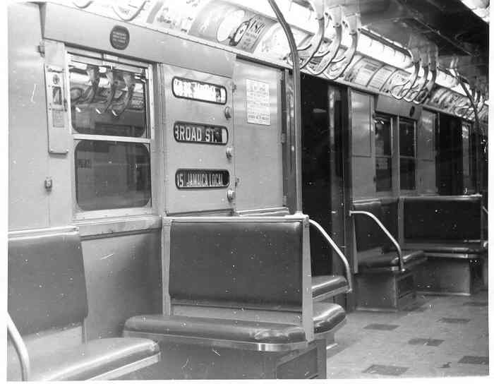 (29k, 700x544)<br><b>Country:</b> United States<br><b>City:</b> New York<br><b>System:</b> New York City Transit<br><b>Car:</b> R-16 (American Car & Foundry, 1955) 6442 <br><b>Photo by:</b> Frank Pfuhler<br><b>Date:</b> 2/13/1955<br><b>Viewed (this week/total):</b> 3 / 2821
