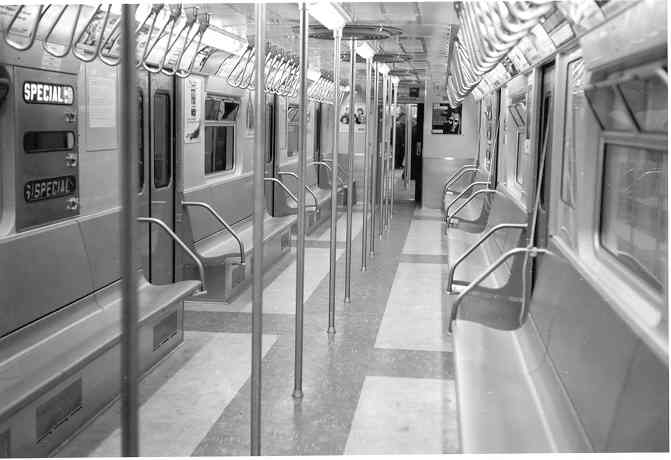 (27k, 671x460)<br><b>Country:</b> United States<br><b>City:</b> New York<br><b>System:</b> New York City Transit<br><b>Car:</b> R-32 (Budd, 1964)  Interior <br><b>Photo by:</b> Frank Pfuhler<br><b>Date:</b> 1964<br><b>Viewed (this week/total):</b> 0 / 1981