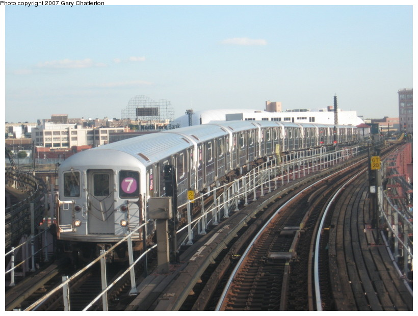 (126k, 820x620)<br><b>Country:</b> United States<br><b>City:</b> New York<br><b>System:</b> New York City Transit<br><b>Line:</b> IRT Flushing Line<br><b>Location:</b> Queensborough Plaza <br><b>Route:</b> 7<br><b>Car:</b> R-62A (Bombardier, 1984-1987)  1765 <br><b>Photo by:</b> Gary Chatterton<br><b>Date:</b> 10/15/2007<br><b>Viewed (this week/total):</b> 3 / 1719