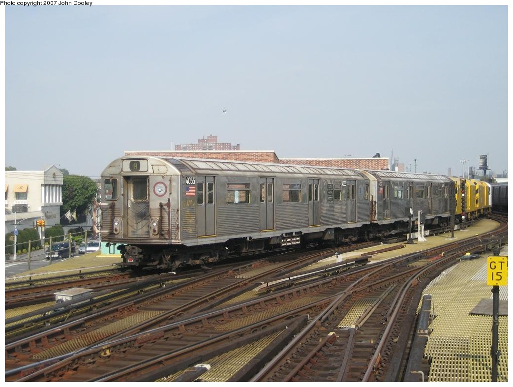 (202k, 1043x787)<br><b>Country:</b> United States<br><b>City:</b> New York<br><b>System:</b> New York City Transit<br><b>Location:</b> Coney Island/Stillwell Avenue<br><b>Route:</b> Work Service<br><b>Car:</b> R-38 (St. Louis, 1966-1967)  4055 <br><b>Photo by:</b> John Dooley<br><b>Date:</b> 10/18/2007<br><b>Viewed (this week/total):</b> 2 / 1708