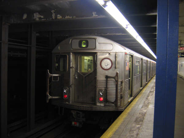 (28k, 600x450)<br><b>Country:</b> United States<br><b>City:</b> New York<br><b>System:</b> New York City Transit<br><b>Line:</b> IND 8th Avenue Line<br><b>Location:</b> 96th Street <br><b>Route:</b> C<br><b>Car:</b> R-38 (St. Louis, 1966-1967)   <br><b>Photo by:</b> Professor J<br><b>Date:</b> 10/25/2007<br><b>Viewed (this week/total):</b> 2 / 2026