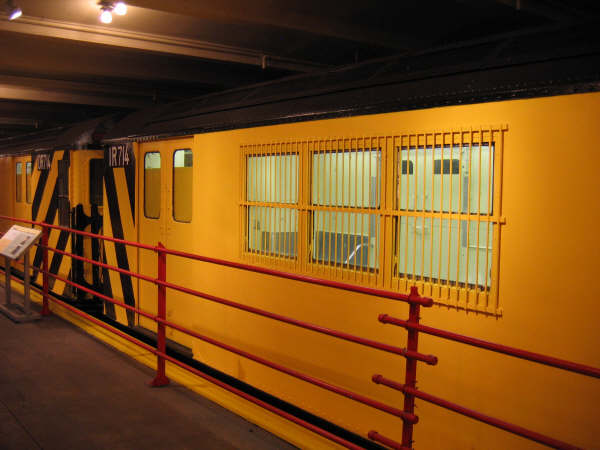 (40k, 600x450)<br><b>Country:</b> United States<br><b>City:</b> New York<br><b>System:</b> New York City Transit<br><b>Location:</b> New York Transit Museum<br><b>Car:</b> R-95 Locker Car (Revenue Train) 1R714 (ex-7422)<br><b>Photo by:</b> Professor J<br><b>Date:</b> 11/8/2007<br><b>Viewed (this week/total):</b> 4 / 2092
