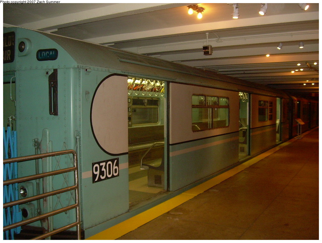 (245k, 1044x788)<br><b>Country:</b> United States<br><b>City:</b> New York<br><b>System:</b> New York City Transit<br><b>Location:</b> New York Transit Museum<br><b>Car:</b> R-33 World's Fair (St. Louis, 1963-64) 9306 <br><b>Photo by:</b> Zach Summer<br><b>Date:</b> 8/18/2007<br><b>Viewed (this week/total):</b> 2 / 1415