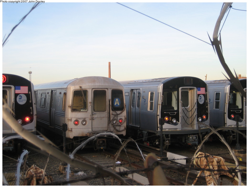(170k, 1044x788)<br><b>Country:</b> United States<br><b>City:</b> New York<br><b>System:</b> New York City Transit<br><b>Location:</b> Coney Island/Stillwell Avenue<br><b>Car:</b> R-160B (Kawasaki, 2005-2008)  8888 <br><b>Photo by:</b> John Dooley<br><b>Date:</b> 12/1/2007<br><b>Viewed (this week/total):</b> 2 / 4430