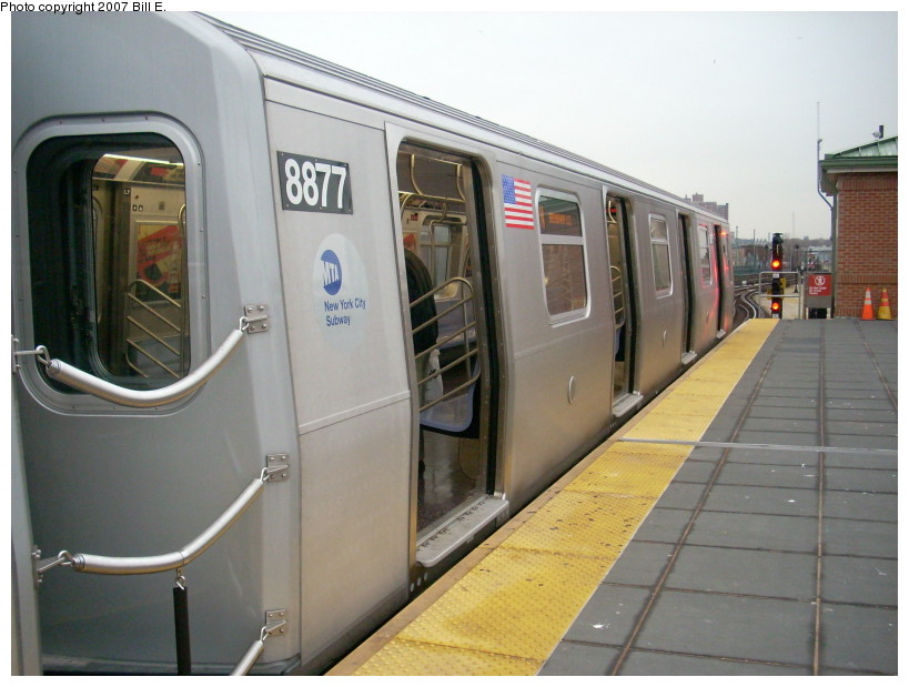 (150k, 819x619)<br><b>Country:</b> United States<br><b>City:</b> New York<br><b>System:</b> New York City Transit<br><b>Location:</b> Coney Island/Stillwell Avenue<br><b>Route:</b> N<br><b>Car:</b> R-160B (Kawasaki, 2005-2008)  8877 <br><b>Photo by:</b> Bill E.<br><b>Date:</b> 12/22/2007<br><b>Viewed (this week/total):</b> 0 / 1779