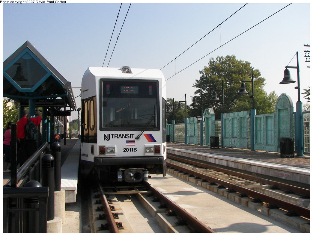 (264k, 1044x788)<br><b>Country:</b> United States<br><b>City:</b> Bayonne, NJ<br><b>System:</b> Hudson Bergen Light Rail<br><b>Location:</b> East 22nd Street <br><b>Car:</b> NJT-HBLR LRV (Kinki-Sharyo, 1998-99)  2011 <br><b>Photo by:</b> David-Paul Gerber<br><b>Date:</b> 9/21/2007<br><b>Viewed (this week/total):</b> 2 / 945
