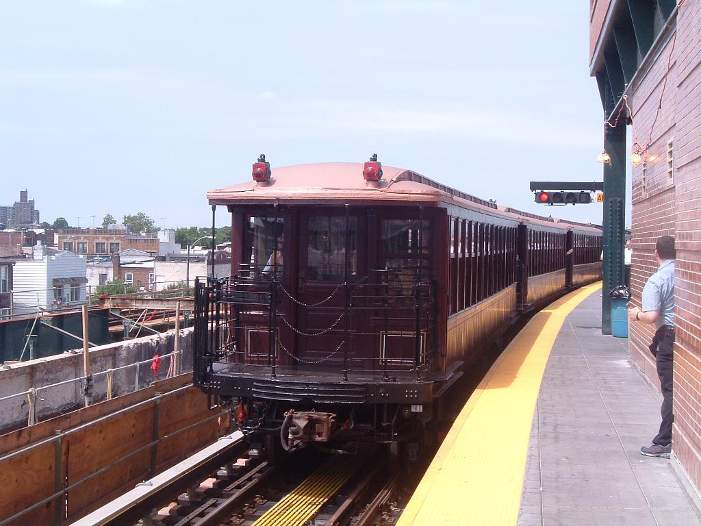 (119k, 1024x768)<br><b>Country:</b> United States<br><b>City:</b> New York<br><b>System:</b> New York City Transit<br><b>Location:</b> Coney Island/Stillwell Avenue<br><b>Route:</b> Fan Trip<br><b>Car:</b> BMT Elevated Gate Car 1407 <br><b>Photo by:</b> Chris Reidy<br><b>Date:</b> 7/25/2004<br><b>Viewed (this week/total):</b> 1 / 829