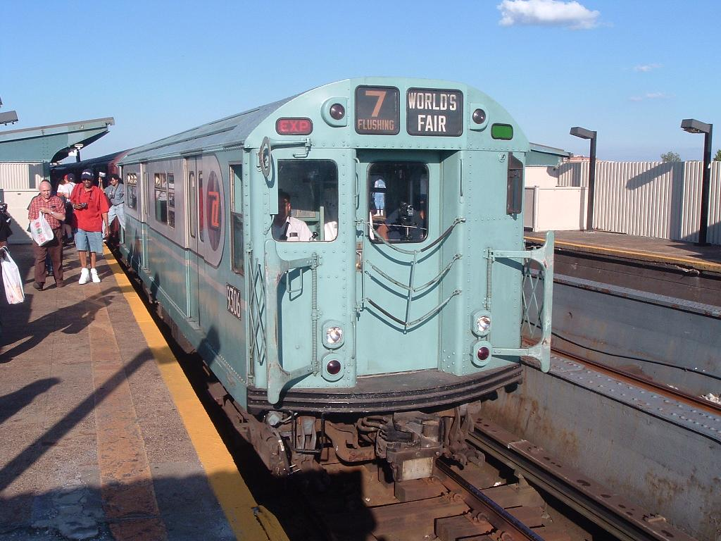(129k, 1024x768)<br><b>Country:</b> United States<br><b>City:</b> New York<br><b>System:</b> New York City Transit<br><b>Line:</b> IND Fulton Street Line<br><b>Location:</b> Rockaway Boulevard <br><b>Route:</b> Fan Trip<br><b>Car:</b> R-33 World's Fair (St. Louis, 1963-64) 9306 <br><b>Photo by:</b> Chris Reidy<br><b>Date:</b> 4/19/2004<br><b>Viewed (this week/total):</b> 2 / 961