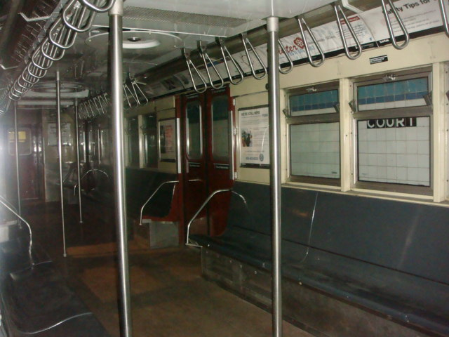 (83k, 640x480)<br><b>Country:</b> United States<br><b>City:</b> New York<br><b>System:</b> New York City Transit<br><b>Location:</b> New York Transit Museum<br><b>Car:</b> R-33 Main Line (St. Louis, 1962-63) 9010 <br><b>Photo by:</b> Danny Molina<br><b>Date:</b> 1/9/2008<br><b>Viewed (this week/total):</b> 3 / 3302