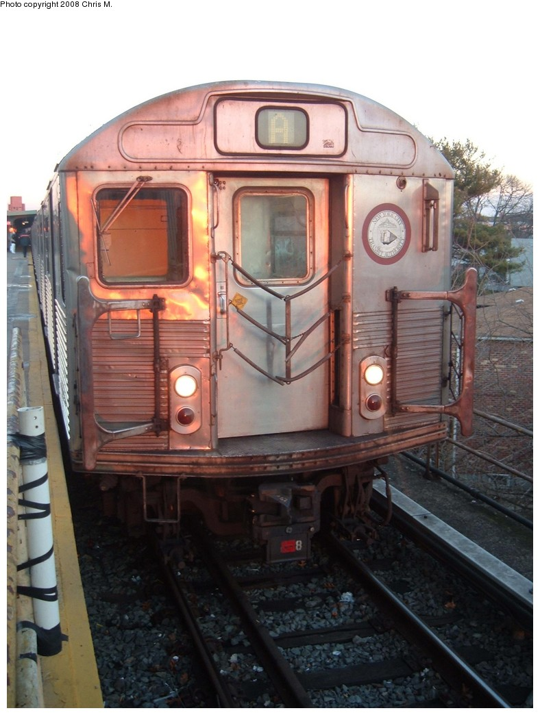 (192k, 788x1044)<br><b>Country:</b> United States<br><b>City:</b> New York<br><b>System:</b> New York City Transit<br><b>Line:</b> IND Rockaway<br><b>Location:</b> Mott Avenue/Far Rockaway <br><b>Route:</b> A<br><b>Car:</b> R-38 (St. Louis, 1966-1967)   <br><b>Photo by:</b> Chris M.<br><b>Date:</b> 1/1/2008<br><b>Viewed (this week/total):</b> 1 / 990