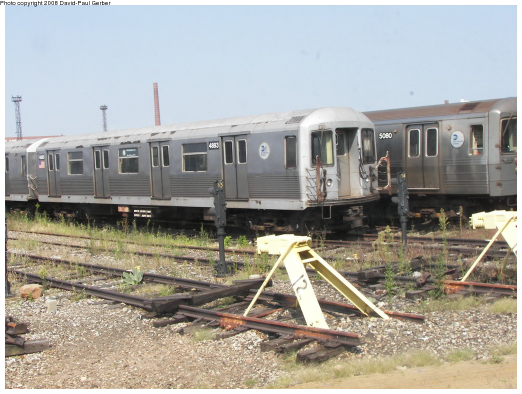 (295k, 1044x788)<br><b>Country:</b> United States<br><b>City:</b> New York<br><b>System:</b> New York City Transit<br><b>Location:</b> Coney Island Yard<br><b>Car:</b> R-42 (St. Louis, 1969-1970)  4893 <br><b>Photo by:</b> David-Paul Gerber<br><b>Date:</b> 9/8/2007<br><b>Viewed (this week/total):</b> 2 / 892