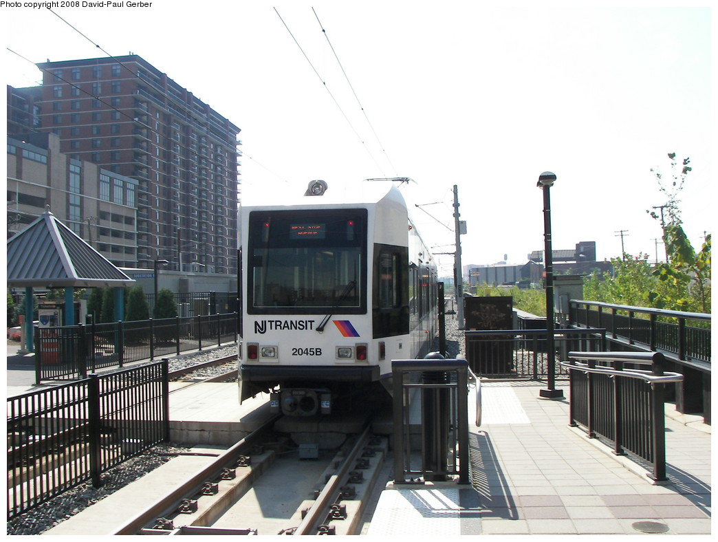 (263k, 1044x788)<br><b>Country:</b> United States<br><b>City:</b> Hoboken, NJ<br><b>System:</b> Hudson Bergen Light Rail<br><b>Location:</b> 2nd Street <br><b>Car:</b> NJT-HBLR LRV (Kinki-Sharyo, 1998-99)  2045 <br><b>Photo by:</b> David-Paul Gerber<br><b>Date:</b> 9/21/2007<br><b>Viewed (this week/total):</b> 0 / 809