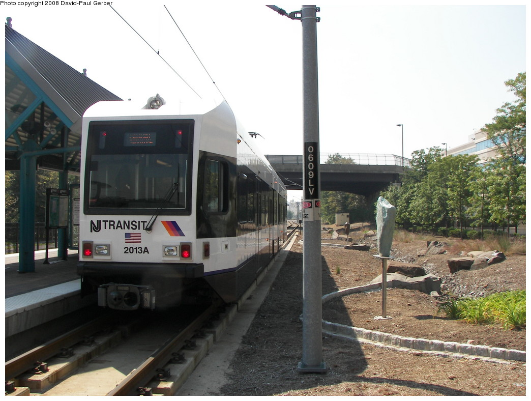 (268k, 1044x788)<br><b>Country:</b> United States<br><b>City:</b> Weehawken, NJ<br><b>System:</b> Hudson Bergen Light Rail<br><b>Location:</b> Lincoln Harbor <br><b>Car:</b> NJT-HBLR LRV (Kinki-Sharyo, 1998-99)  2013 <br><b>Photo by:</b> David-Paul Gerber<br><b>Date:</b> 9/21/2007<br><b>Viewed (this week/total):</b> 0 / 743