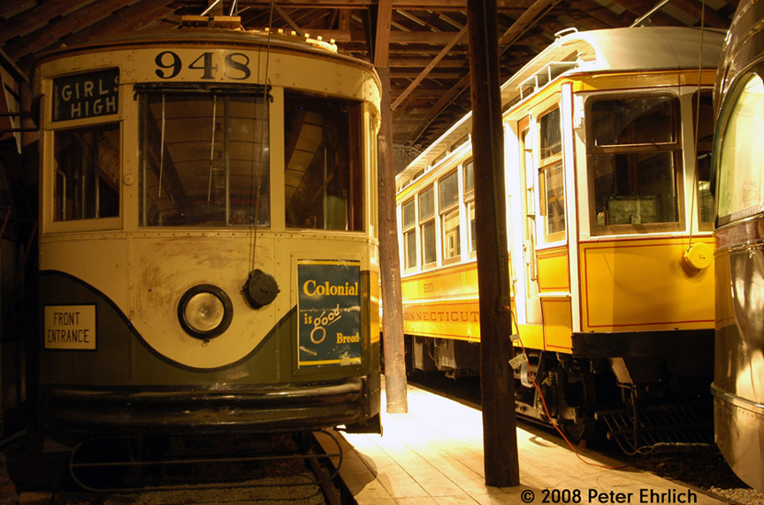 (208k, 864x571)<br><b>Country:</b> United States<br><b>City:</b> East Haven/Branford, Ct.<br><b>System:</b> Shore Line Trolley Museum <br><b>Car:</b>  948 <br><b>Photo by:</b> Peter Ehrlich<br><b>Date:</b> 12/23/2007<br><b>Notes:</b> Atlanta, Georgia Power Company 948.<br><b>Viewed (this week/total):</b> 1 / 560