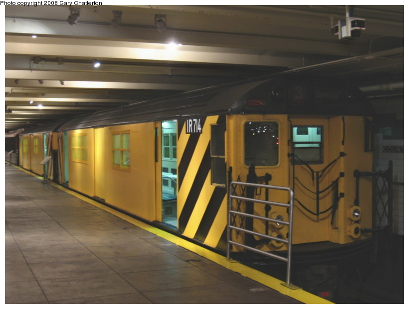 (102k, 820x620)<br><b>Country:</b> United States<br><b>City:</b> New York<br><b>System:</b> New York City Transit<br><b>Location:</b> New York Transit Museum<br><b>Car:</b> R-95 Locker Car (Revenue Train) 1R714 (ex-7422)<br><b>Photo by:</b> Gary Chatterton<br><b>Date:</b> 1/10/2008<br><b>Viewed (this week/total):</b> 1 / 2187