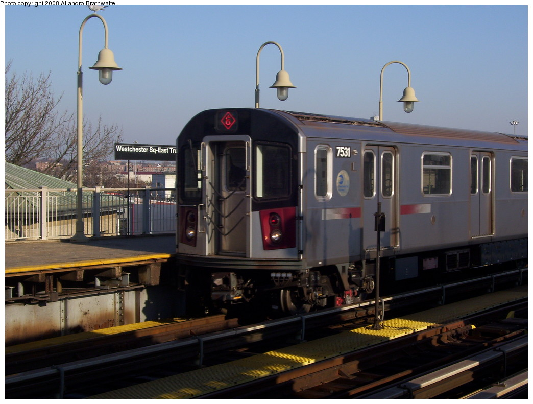 (203k, 1044x791)<br><b>Country:</b> United States<br><b>City:</b> New York<br><b>System:</b> New York City Transit<br><b>Line:</b> IRT Pelham Line<br><b>Location:</b> Westchester Square <br><b>Route:</b> 6<br><b>Car:</b> R-142A (Primary Order, Kawasaki, 1999-2002)  7531 <br><b>Photo by:</b> Aliandro Brathwaite<br><b>Date:</b> 12/31/2007<br><b>Viewed (this week/total):</b> 7 / 2252