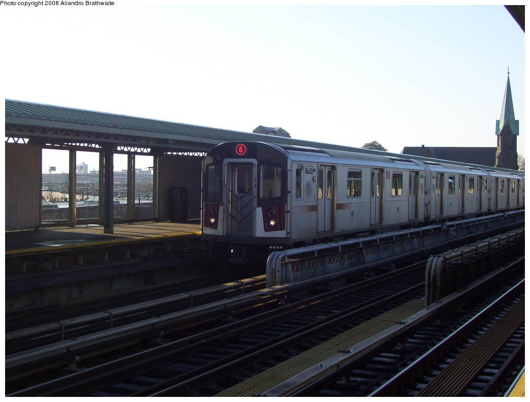(174k, 1044x791)<br><b>Country:</b> United States<br><b>City:</b> New York<br><b>System:</b> New York City Transit<br><b>Line:</b> IRT Pelham Line<br><b>Location:</b> Westchester Square <br><b>Route:</b> 6<br><b>Car:</b> R-142A (Option Order, Kawasaki, 2002-2003)  7650 <br><b>Photo by:</b> Aliandro Brathwaite<br><b>Date:</b> 12/31/2007<br><b>Viewed (this week/total):</b> 2 / 2287