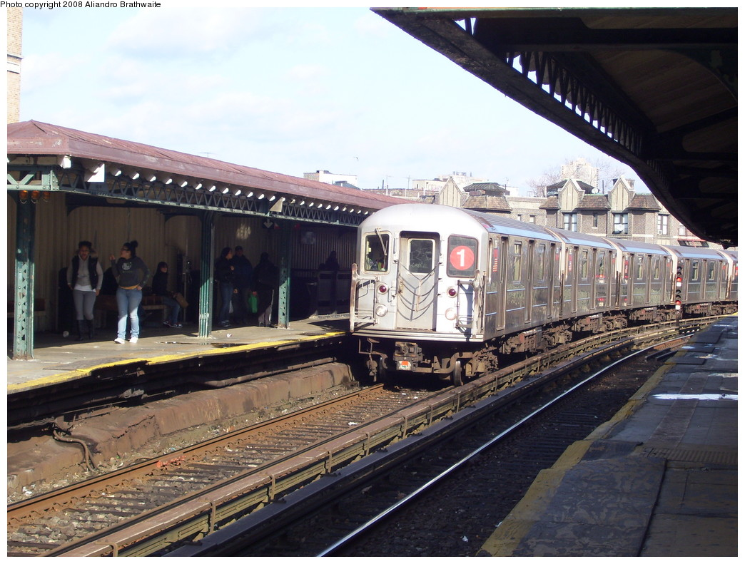 (256k, 1044x791)<br><b>Country:</b> United States<br><b>City:</b> New York<br><b>System:</b> New York City Transit<br><b>Line:</b> IRT West Side Line<br><b>Location:</b> Dyckman Street <br><b>Route:</b> 1<br><b>Car:</b> R-62A (Bombardier, 1984-1987)  2301 <br><b>Photo by:</b> Aliandro Brathwaite<br><b>Date:</b> 12/31/2007<br><b>Viewed (this week/total):</b> 2 / 1923