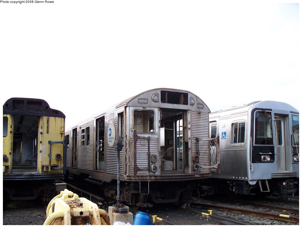 (174k, 1044x788)<br><b>Country:</b> United States<br><b>City:</b> New York<br><b>System:</b> New York City Transit<br><b>Location:</b> 207th Street Yard<br><b>Car:</b> R-32 (GE Rebuild) 3934 <br><b>Photo by:</b> Glenn L. Rowe<br><b>Date:</b> 1/17/2008<br><b>Viewed (this week/total):</b> 4 / 2537