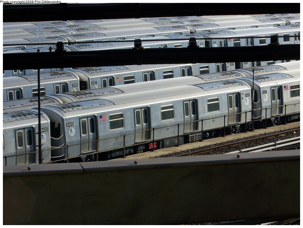 (226k, 1044x788)<br><b>Country:</b> United States<br><b>City:</b> New York<br><b>System:</b> New York City Transit<br><b>Location:</b> East New York Yard/Shops<br><b>Car:</b> R-160A-1 (Alstom, 2005-2008, 4 car sets)  8426 <br><b>Photo by:</b> Philip D'Allesandro<br><b>Date:</b> 1/23/2008<br><b>Viewed (this week/total):</b> 1 / 1769