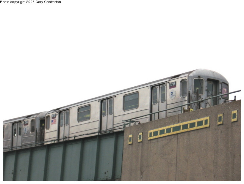 (73k, 820x620)<br><b>Country:</b> United States<br><b>City:</b> New York<br><b>System:</b> New York City Transit<br><b>Line:</b> IRT Flushing Line<br><b>Location:</b> 46th Street/Bliss Street <br><b>Route:</b> 7<br><b>Car:</b> R-62A (Bombardier, 1984-1987)  1715 <br><b>Photo by:</b> Gary Chatterton<br><b>Date:</b> 1/29/2008<br><b>Viewed (this week/total):</b> 5 / 1371