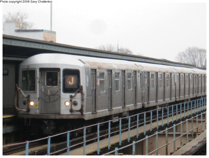 (118k, 820x620)<br><b>Country:</b> United States<br><b>City:</b> New York<br><b>System:</b> New York City Transit<br><b>Line:</b> BMT Nassau Street/Jamaica Line<br><b>Location:</b> Woodhaven Boulevard <br><b>Route:</b> J<br><b>Car:</b> R-42 (St. Louis, 1969-1970)  4701 <br><b>Photo by:</b> Gary Chatterton<br><b>Date:</b> 1/29/2008<br><b>Viewed (this week/total):</b> 0 / 1425