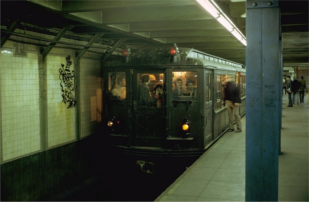 (162k, 1024x671)<br><b>Country:</b> United States<br><b>City:</b> New York<br><b>System:</b> New York City Transit<br><b>Line:</b> IRT Brooklyn Line<br><b>Location:</b> Grand Army Plaza <br><b>Route:</b> Fan Trip<br><b>Car:</b> Low-V (Museum Train) 5290 <br><b>Photo by:</b> Steve Zabel<br><b>Collection of:</b> Joe Testagrose<br><b>Date:</b> 10/28/1973<br><b>Viewed (this week/total):</b> 0 / 6610