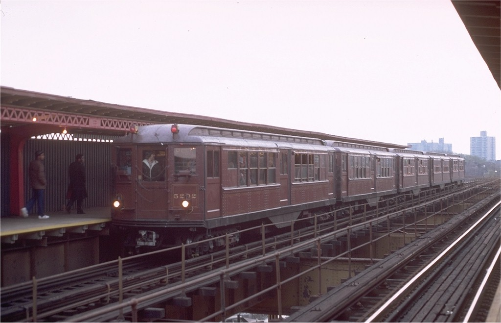 (128k, 1024x659)<br><b>Country:</b> United States<br><b>City:</b> New York<br><b>System:</b> New York City Transit<br><b>Line:</b> IRT Brooklyn Line<br><b>Location:</b> Sutter Avenue/Rutland Road <br><b>Route:</b> Fan Trip<br><b>Car:</b> Low-V (Museum Train) 5292 <br><b>Photo by:</b> Steve Zabel<br><b>Collection of:</b> Joe Testagrose<br><b>Date:</b> 11/3/1979<br><b>Viewed (this week/total):</b> 0 / 3568