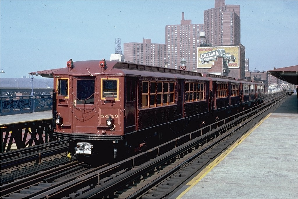(225k, 1024x685)<br><b>Country:</b> United States<br><b>City:</b> New York<br><b>System:</b> New York City Transit<br><b>Line:</b> IRT West Side Line<br><b>Location:</b> 125th Street <br><b>Route:</b> Fan Trip<br><b>Car:</b> Low-V (Museum Train) 5443 <br><b>Photo by:</b> Frank Goldsmith<br><b>Collection of:</b> Joe Testagrose<br><b>Date:</b> 3/8/1979<br><b>Viewed (this week/total):</b> 0 / 2302