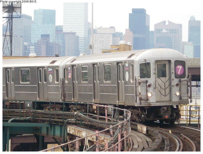 (160k, 819x619)<br><b>Country:</b> United States<br><b>City:</b> New York<br><b>System:</b> New York City Transit<br><b>Line:</b> IRT Flushing Line<br><b>Location:</b> Queensborough Plaza <br><b>Route:</b> 7<br><b>Car:</b> R-62A (Bombardier, 1984-1987)  1948 <br><b>Photo by:</b> Bill E.<br><b>Date:</b> 2/2/2008<br><b>Viewed (this week/total):</b> 2 / 1479