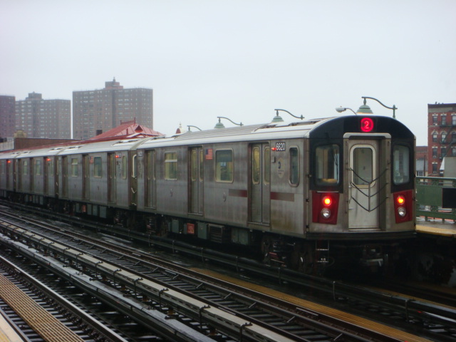 (104k, 640x480)<br><b>Country:</b> United States<br><b>City:</b> New York<br><b>System:</b> New York City Transit<br><b>Line:</b> IRT White Plains Road Line<br><b>Location:</b> Prospect Avenue <br><b>Route:</b> 2<br><b>Car:</b> R-142 (Primary Order, Bombardier, 1999-2002)  6620 <br><b>Photo by:</b> Danny Molina<br><b>Date:</b> 2/2/2008<br><b>Viewed (this week/total):</b> 0 / 1434
