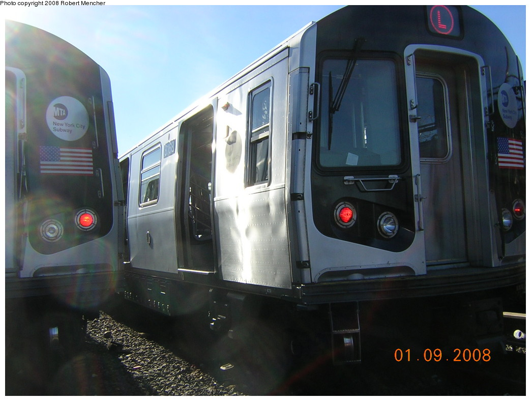 (204k, 1044x788)<br><b>Country:</b> United States<br><b>City:</b> New York<br><b>System:</b> New York City Transit<br><b>Location:</b> Rockaway Parkway (Canarsie) Yard<br><b>Car:</b> R-143 (Kawasaki, 2001-2002) 8168 <br><b>Photo by:</b> Robert Mencher<br><b>Date:</b> 1/9/2008<br><b>Viewed (this week/total):</b> 0 / 1893
