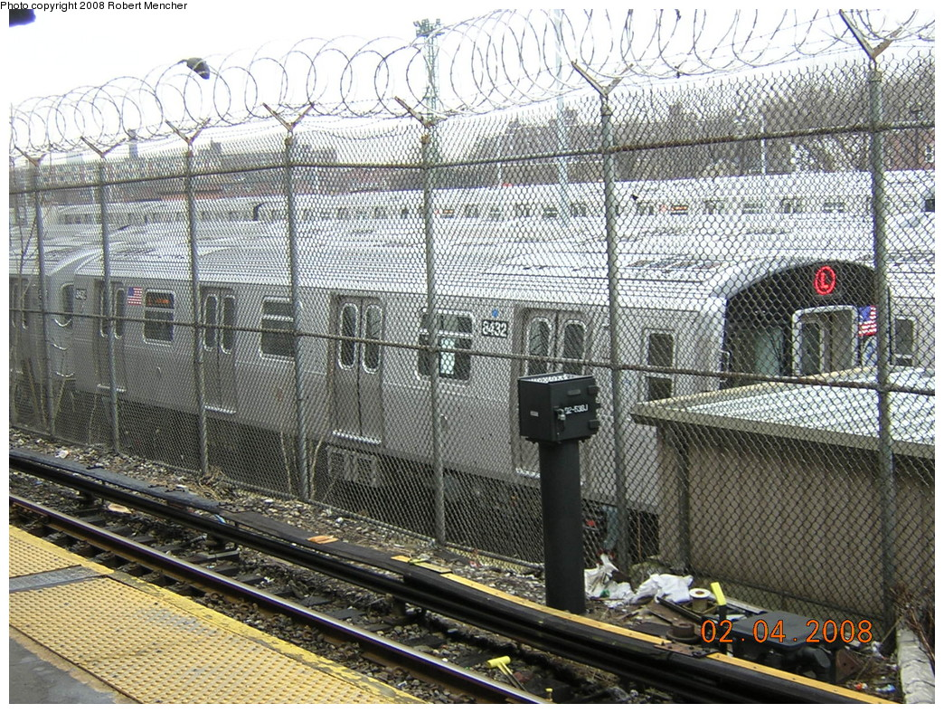 (399k, 1044x788)<br><b>Country:</b> United States<br><b>City:</b> New York<br><b>System:</b> New York City Transit<br><b>Location:</b> Rockaway Parkway (Canarsie) Yard<br><b>Car:</b> R-160A-1 (Alstom, 2005-2008, 4 car sets)  8342 <br><b>Photo by:</b> Robert Mencher<br><b>Date:</b> 2/4/2008<br><b>Viewed (this week/total):</b> 2 / 2235