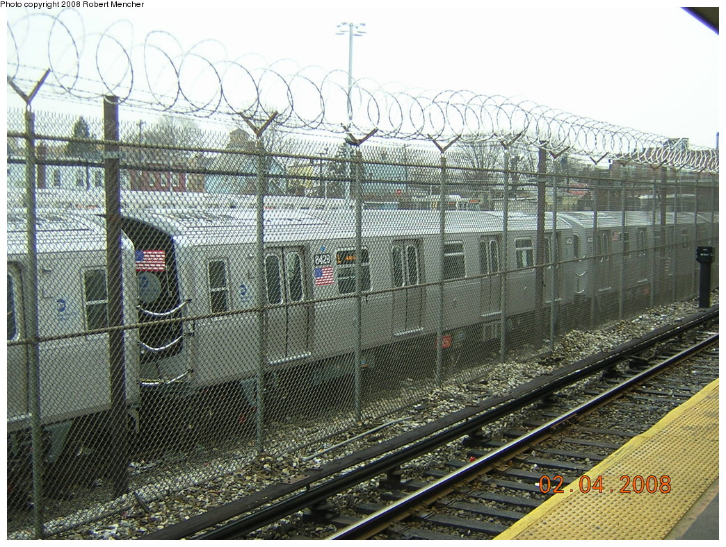 (375k, 1044x788)<br><b>Country:</b> United States<br><b>City:</b> New York<br><b>System:</b> New York City Transit<br><b>Location:</b> Rockaway Parkway (Canarsie) Yard<br><b>Car:</b> R-160A-1 (Alstom, 2005-2008, 4 car sets)  8429 <br><b>Photo by:</b> Robert Mencher<br><b>Date:</b> 2/4/2008<br><b>Viewed (this week/total):</b> 0 / 2311