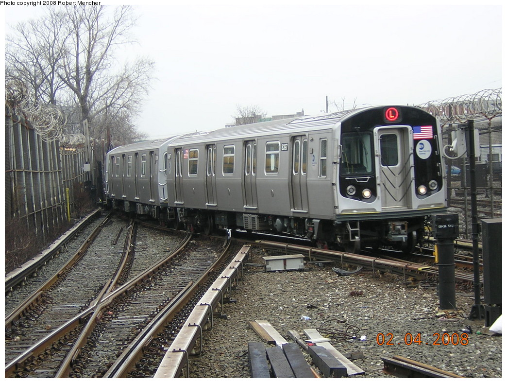 (305k, 1044x788)<br><b>Country:</b> United States<br><b>City:</b> New York<br><b>System:</b> New York City Transit<br><b>Line:</b> BMT Canarsie Line<br><b>Location:</b> Rockaway Parkway <br><b>Route:</b> L<br><b>Car:</b> R-160A-1 (Alstom, 2005-2008, 4 car sets)  8397 <br><b>Photo by:</b> Robert Mencher<br><b>Date:</b> 2/4/2008<br><b>Viewed (this week/total):</b> 1 / 2415